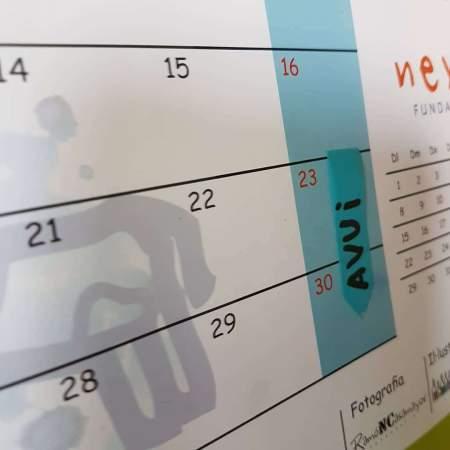 Calendari amb una fletxa on posa avui