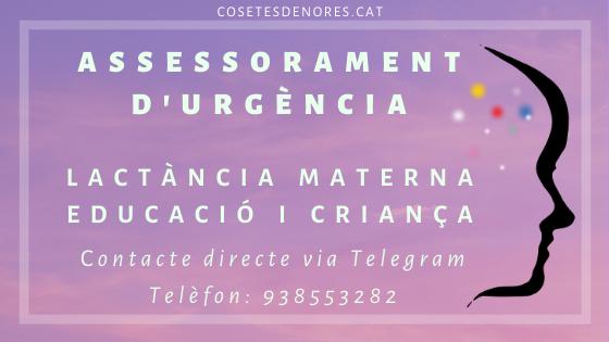 assessorament d'urgència lactància materna educació i criança Contacte directe via Telegram (1)